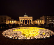 WWF earthhour event 2012, Berlin in front of the Brandenburger Tor
